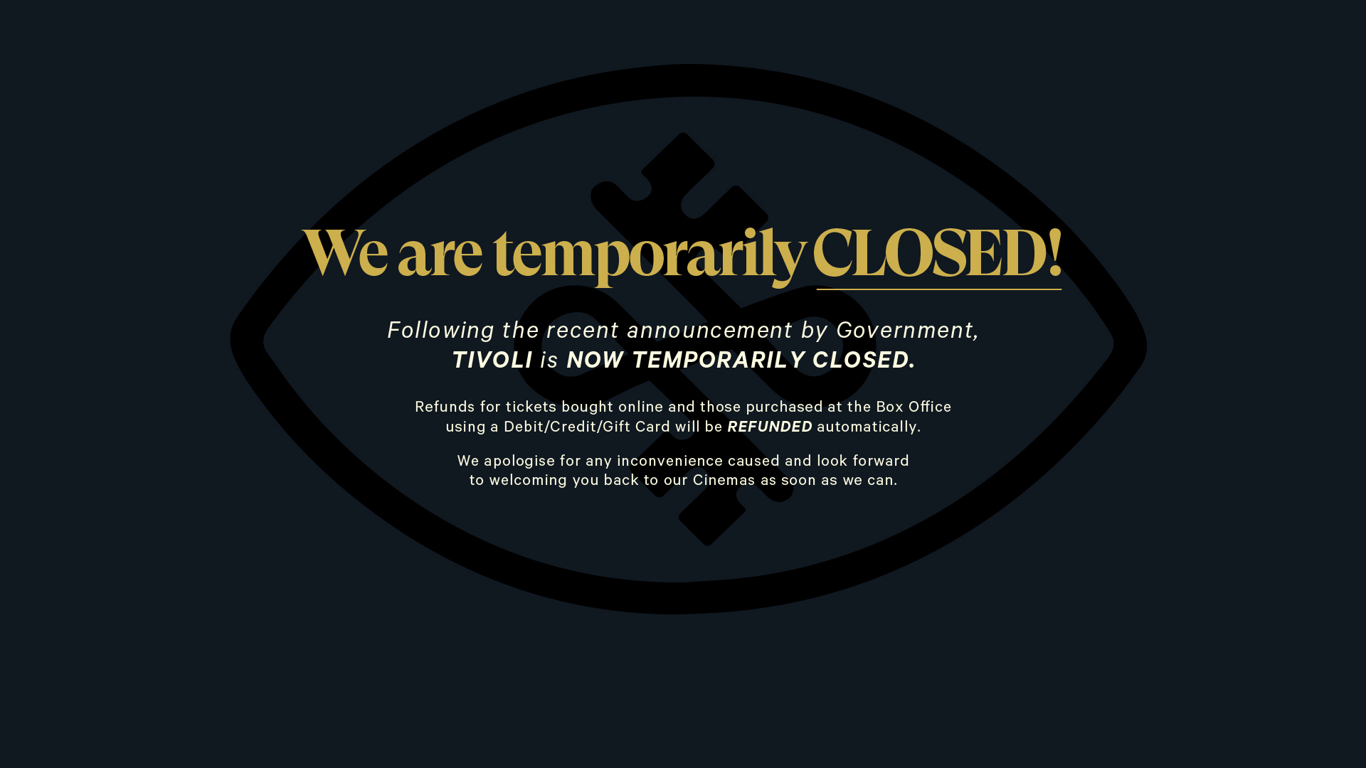 Temporary Closure.